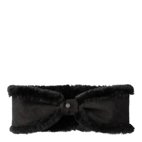 UGG Women's Black Sheepskin Bow Headband