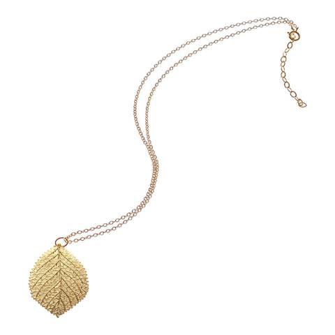 Liv Oliver Gold Leaf Pendant Necklace