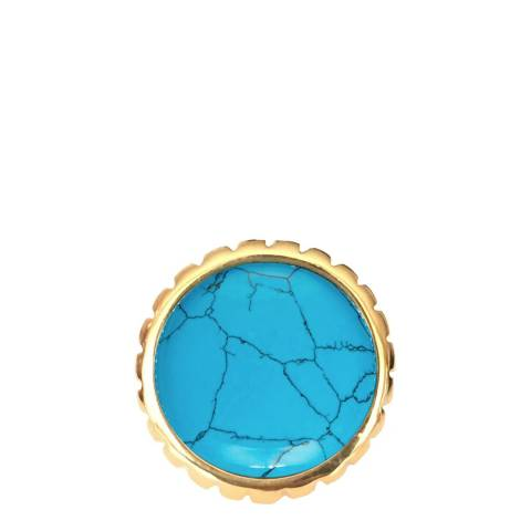 Chloe by Liv Oliver Gold/Turquoise Ring