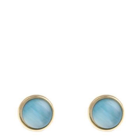 Liv Oliver Gold/Blue Stud Earrings
