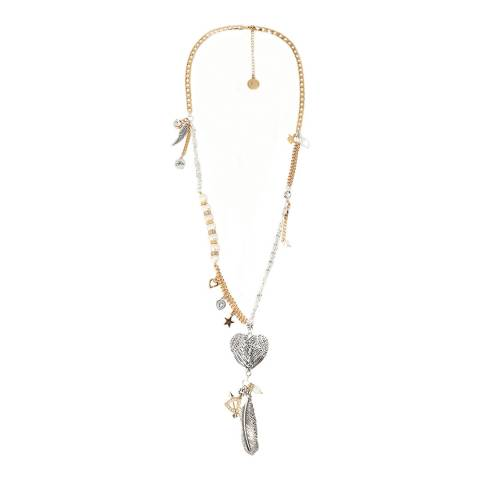 BiBi Bijoux Gold Charm Necklace