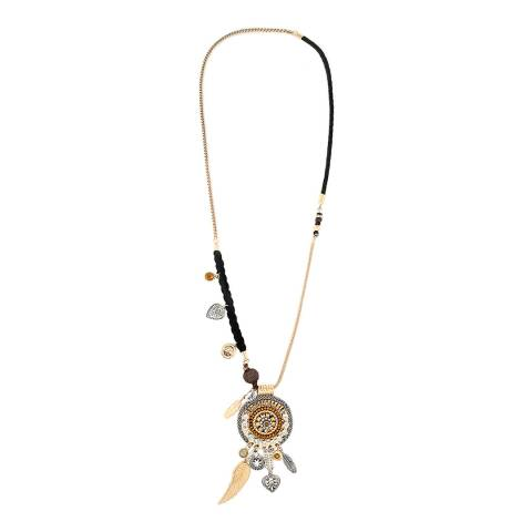 BiBi Bijoux Black/Gold Charm Necklace