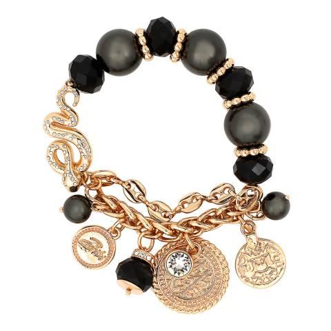 BiBi Bijoux Black/Gold Swarovski Crystals Bracelet