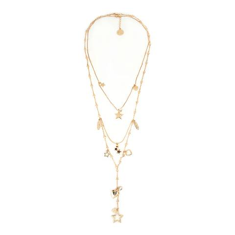 BiBi Bijoux Gold Charm Layered Necklace