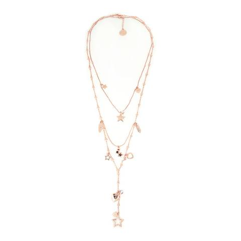 BiBi Bijoux Rose Gold Charm Layered Necklace