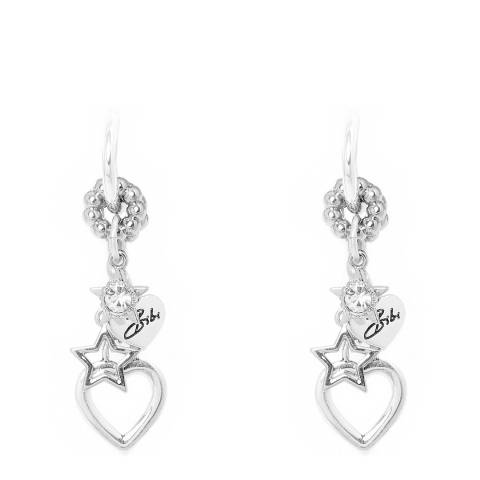 BiBi Bijoux Silver Swarovski Elements Drop Earrings