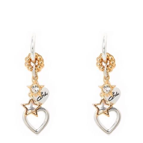 BiBi Bijoux Silver/Gold Swarovski Elements Drop Earrings