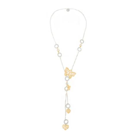 BiBi Bijoux Gold Swarovski Crystals Necklace