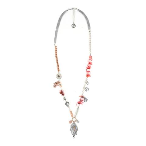 BiBi Bijoux Silver/Rose Gold Shell Necklace
