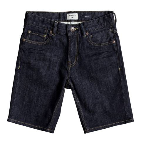 Quiksilver DIST RIN SH YTH B DNST BSNW Denim Shorts