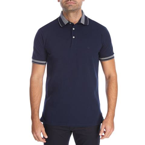 Bagutta Navy Eric Cotton Polo Top