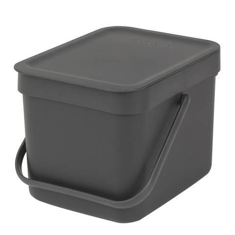 Brabantia Grey Waste Bin 'Sort & Go', 6L