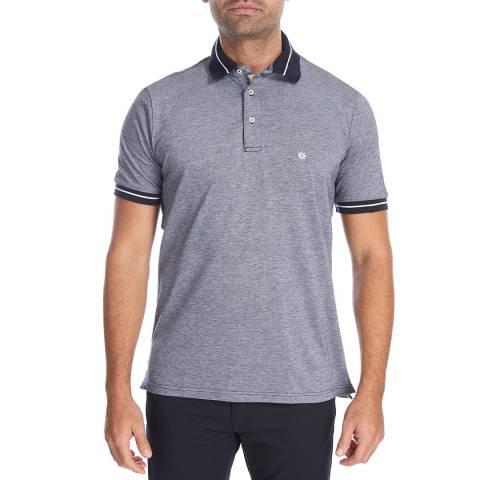 Bagutta Navy Oxford Cotton Polo Top