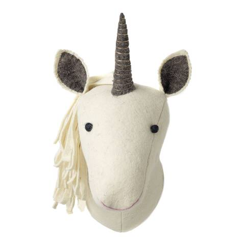 Mr. Fox Multi Unicorn Felt Wool Head
