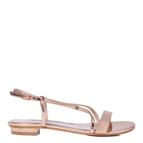 Dune Rose Gold Nena Strappy Sandals