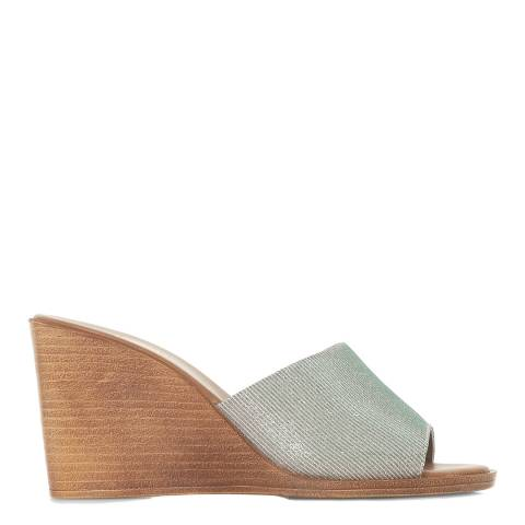 Dune London Glitter Kimia Wedge Sandals
