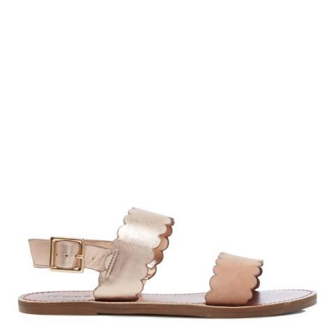 Dune Blush Nubuck Libee Double Strap Sandals
