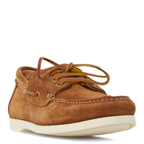 Dune Tan Suede Boater Boat Shoes