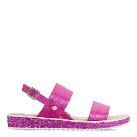 Dune Pink Leather Lolitta Slingback Sandals