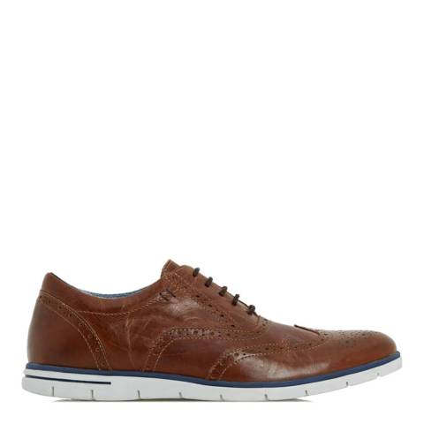Dune Tan Leather Branson Brogue Shoes