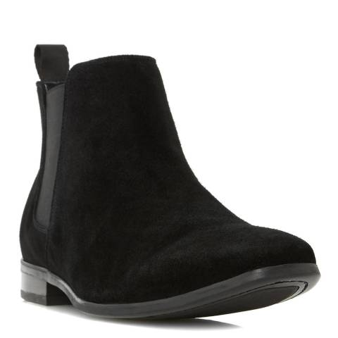 Dune Black Suede Maida Vale Ankle Boots,