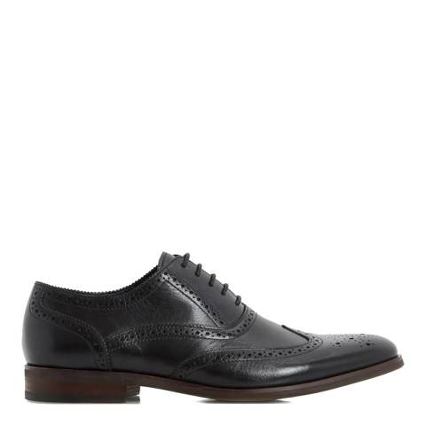 Dune Black Leather Rugby Oxford Brogues