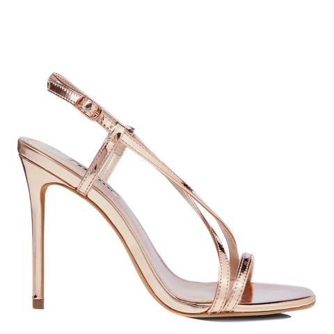 Dune London Rose Gold Madeena Stiletto Sandals