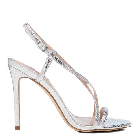 Dune Silver Reptile Madeena Sandals