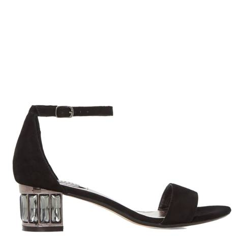 Dune London Black Suede Marcee Sandals