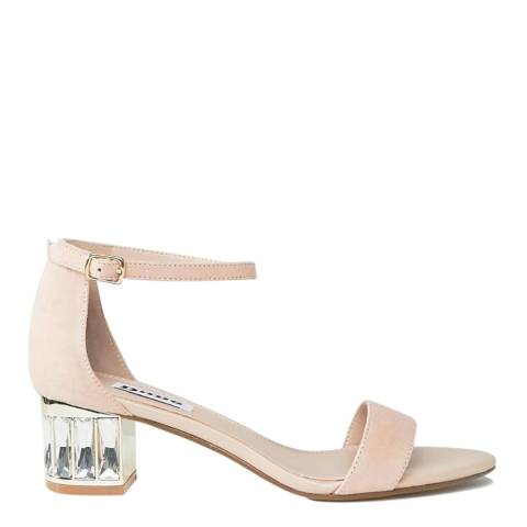 Dune London Blush Suede Marcee Sandals