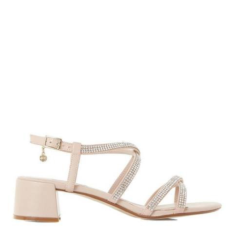 Dune Blush Leather Masiey Sandals