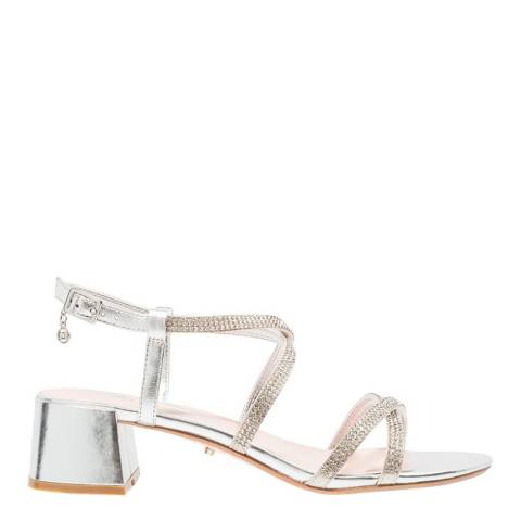 Dune Silver Leather Masiey Sandals