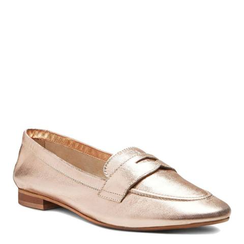 Dune Rose Gold Leather Galer Loafers