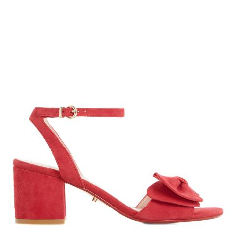 Dune Red Suede Merell Bow Sandals