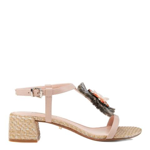 Dune Blush Leather Minah Sandals