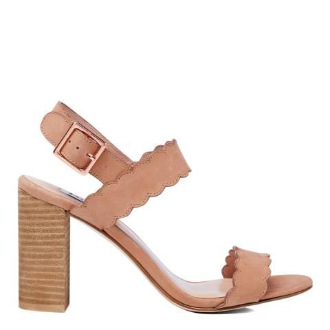 Dune Blush Nubuck Indee Sandal Heels