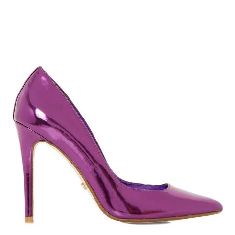 Dune London Metallic Purple Aiyana Pointed Toe Court Shoes