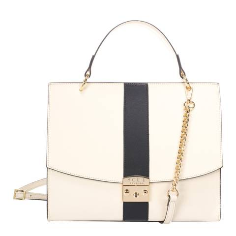 SCUI Studios Beige Victoria Top handle Leather Bag