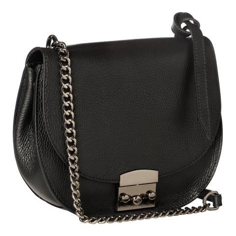 Krole Black Cross Body / Shoulder Leather Bag