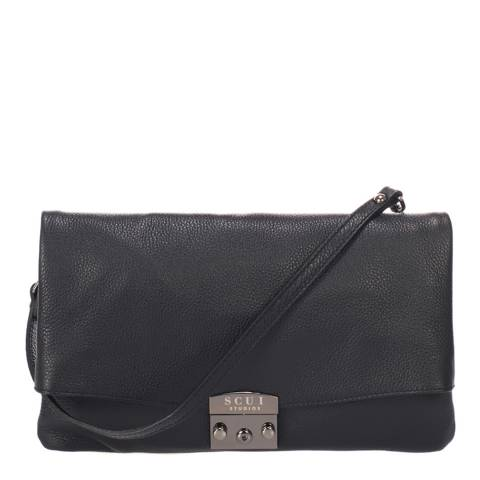 SCUI Studios Black Cindy Clutch Leather Bag