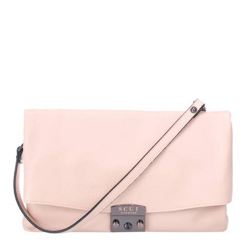 SCUI Studios Light Pink Cindy Clutch Leather Bag
