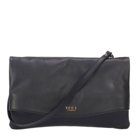 SCUI Studios Black Chrissy Clutch Leather Bag