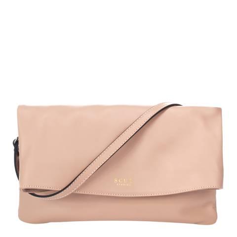 SCUI Studios Light Pink Chrissy Clutch Leather Bag