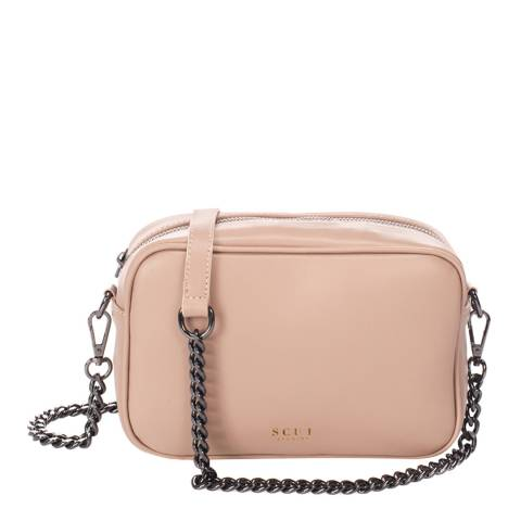 SCUI Studios Light Pink Donatella Crossbody Leather Bag