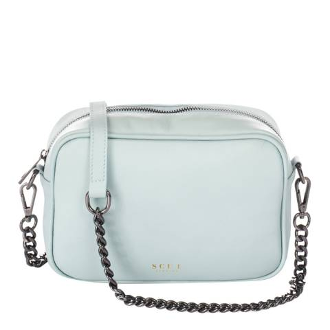 SCUI Studios Light Blue Donatella Crossbody Leather Bag