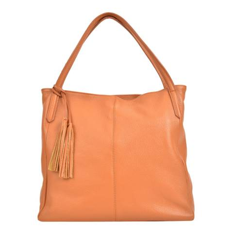 Sofia Cardoni Cognac Leather Shoulder Bag