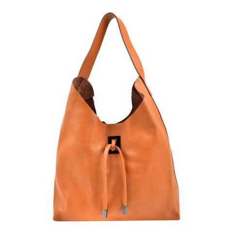 Roberta M Cognac Leather Hobo Bag