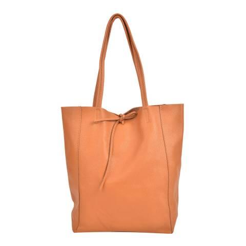 Sofia Cardoni Cognac Leather Shopper Bag