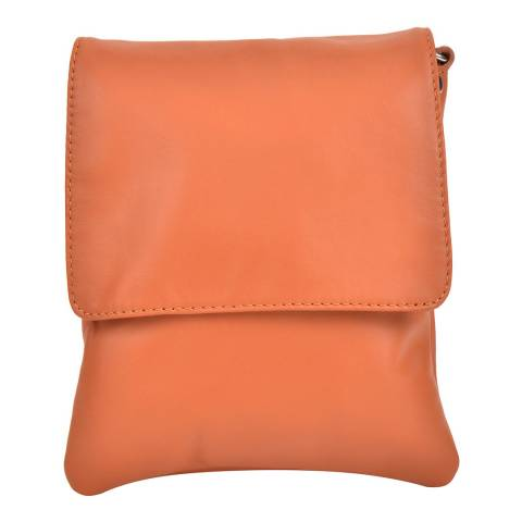 Sofia Cardoni Cognac Leather Shoulder Bag