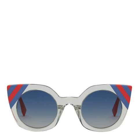 Fendi Women's Green Waves Sunglasses 47mm